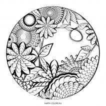 Цветочный узор в круге