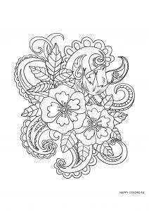 Цветы с узором