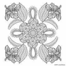 Мандала 4 цветка