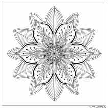 Мандала элегантный цветок