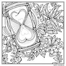 Песочные часы и цветы