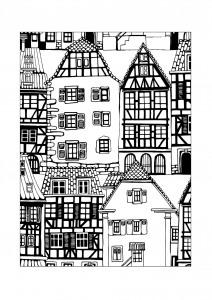 Раскраска город