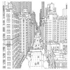 Раскраска город Манхэттен
