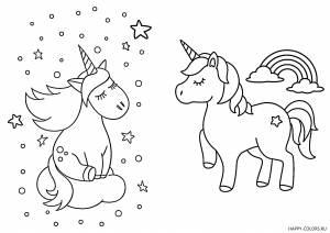 Единороги раскраски для детей