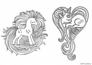 Единороги с красивой гривой