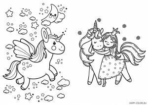 Раскраски единорогов для девочек