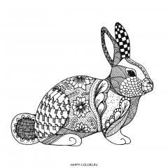 Раскраска кролик антистресс