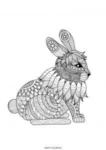Заяц зентангл