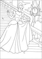 Раскраска Золушка Дисней 10