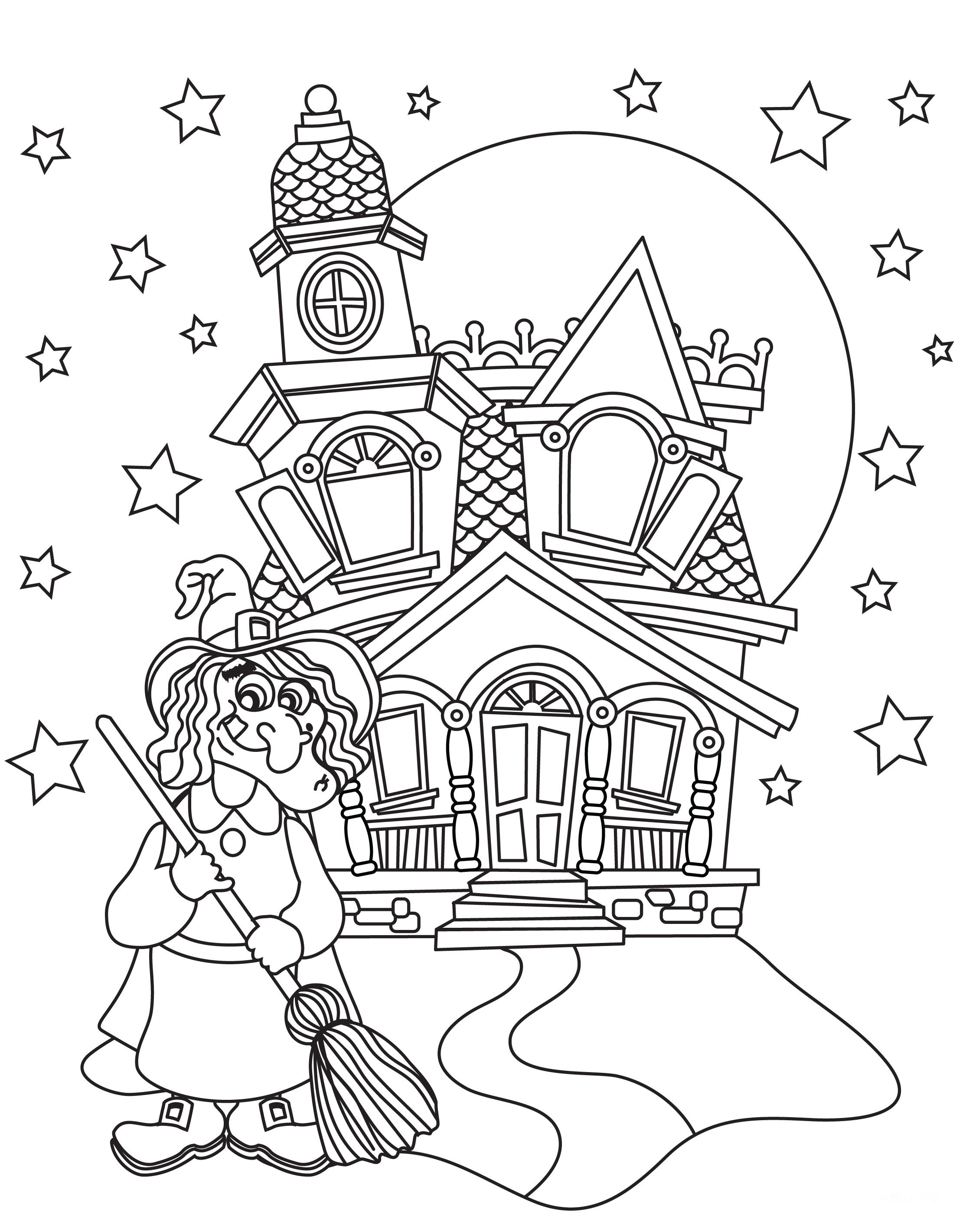 Раскраски Хэллоуин для Детей - распечатать бесплатно