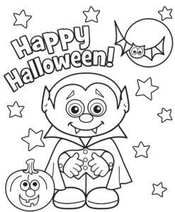 Раскраска Хэллоуин распечатать