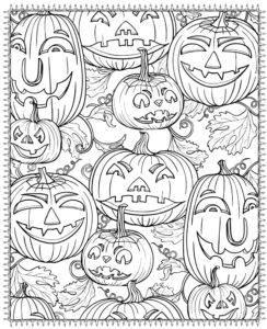раскраска хэллоуин тыквы распечатать
